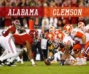 Oddsmakers giving Clemson respect vs Alabama in CFP National Championship | News Article by handicapper911.com